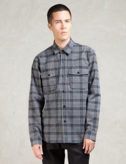 Denham Grey Brushed Flannel Uniform Shirt Picture
