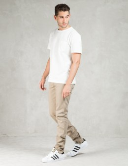 The Unbranded Brand UB107 Skinny Fit 13oz Raw Beige Chino Picture