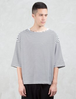 SASQUATCHFABRIX. Border Boat Neck S/S T-Shirt Picture