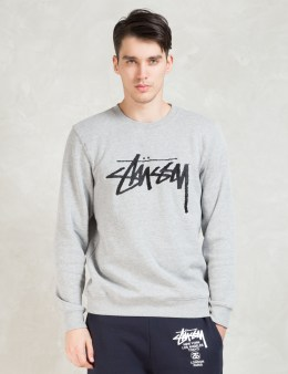 Stussy Grey Stock Emb. Sweater Picture
