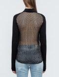 McQ Alexander McQueen Crochet Back Zipped Cardigan Picutre