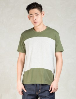 Aloye Olive Color Block S/s T-shirt Picture