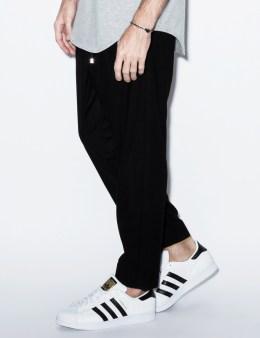 clothsurgeon Black Wool Crepe Cropped Sweatpants Picture