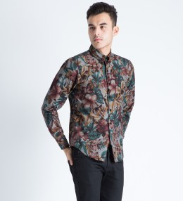 Naked & Famous Black Big Tropical Regular Shirt Picture