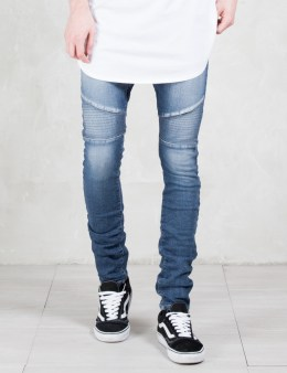 MAGIC STICK Fakey Biker Denim Jeans Picture