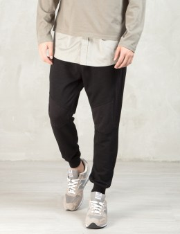 Shades of Grey by Micah Cohen Black Contrast Panel Sweatpants Picture