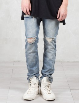 C2H4 Los Angeles Heavy Disstress Vintage Wash Jeans Picture