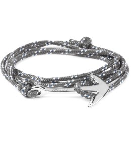 Miansai Grey/Blue Silver Tone Anchor Rope Bracelet Picture