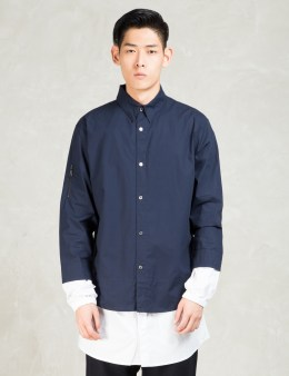 Still Good Navy/white Layered Long Shirt Picture