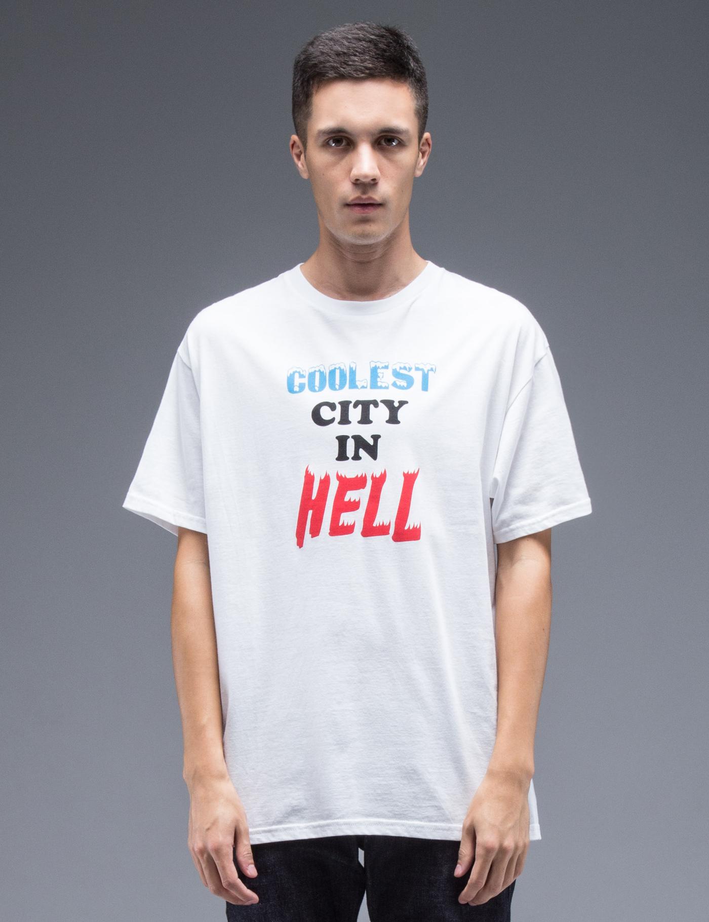 Dc Hbx Ssur White Cool In Hell T Shirt Hbx