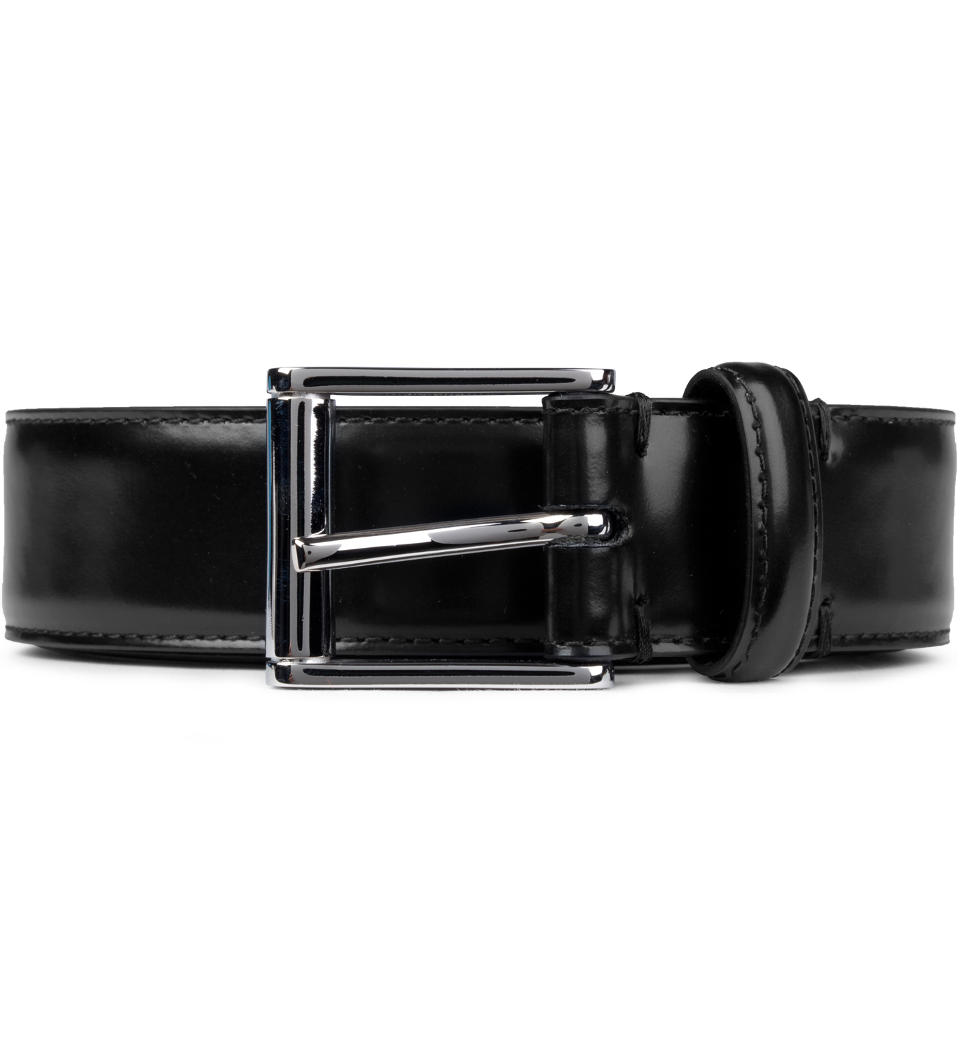 thom browne black buffed calfskin belt hbx