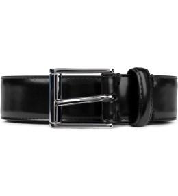 THOM BROWNE Black Buffed Calfskin Belt Picutre