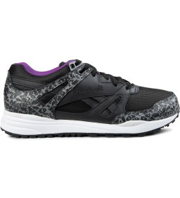 Reebok Black/White/Aubergine Ventilator Reflective Shoes Picture