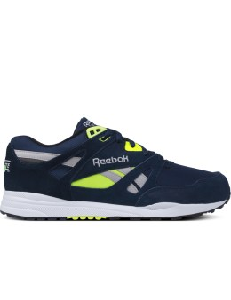 Reebok Indigo/Black/White/Solar Yellow/Steel Ventilator Pop Sneakers Picture