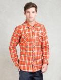 Billionaire Boys Club Orange L/S Billionaire Layer Heavy Flannel Shirt Picutre