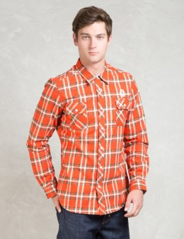 Billionaire Boys Club Orange L/S Billionaire Layer Heavy Flannel Shirt Picture