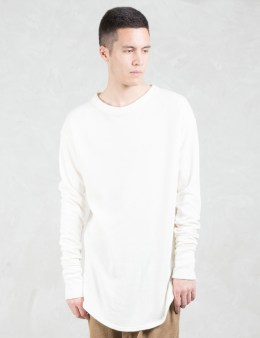 REPRESENT Clothing Ivory Costa Long Sleeve Scooped T-Shirt Picture