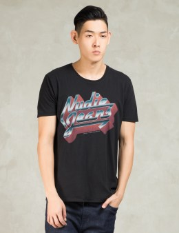 Nudie Jeans Black Metal O-neck T-Shirt Picture