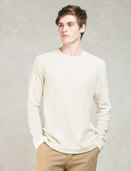wings + horns White Felted Wool L/s Sweater Picture