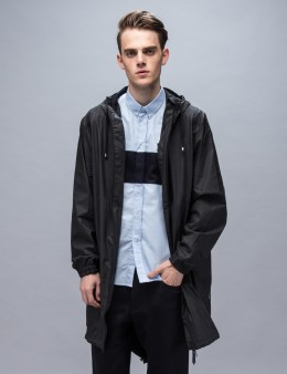 RAINS Black Parka Coat Picture