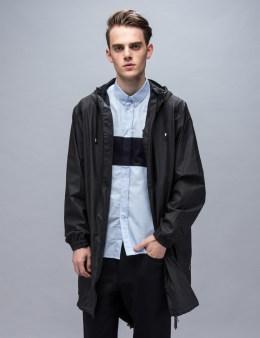 RAINS Black Parka Coat Picture