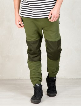 Stussy Olive Military Fleece Pants Picture