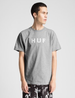 HUF Heather Grey Original Box Logo T-Shirt Picture