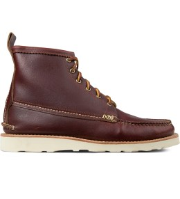 Yuketen Wax Red Maine Guide 6 Eye Boots Picture