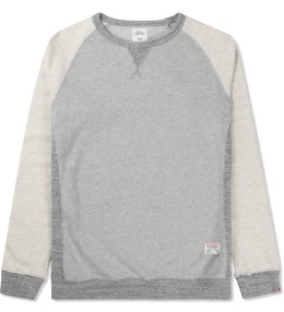 BEDWIN & THE HEARTBREAKERS Grey L/S Freedom C-neck Lou Sweater Picture