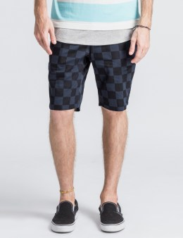 Head Porter Plus Black Checker Shorts Picture