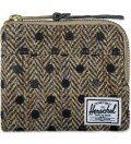 Herschel Supply Co. Black Polka Dot Johnny Harris Tweed Wallet Picutre