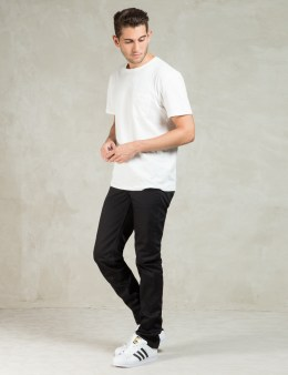 The Unbranded Brand UB155 Black Skinny Fit Selvedge Chino Picture