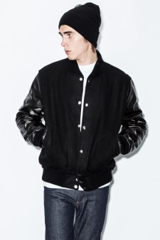 MKI Black Navy/Black Varsity Jacket Picture