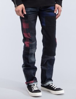 MOSTLY HEARD RARELY SEEN Patchwork Denim Jeans Picture