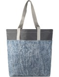 Nocturnal Workshop Indigo Acid Wash Denim Feather Tote Large Picutre