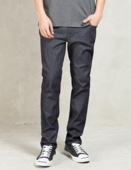 Nudie Jeans Dark Grey Thin Finn Jeans Picture