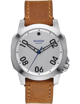 Nixon Silver/Saddle Ranger 40 Leather Watch Picture