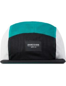 GRAND SCHEME Black Mesh Tri Camper Cap Picture