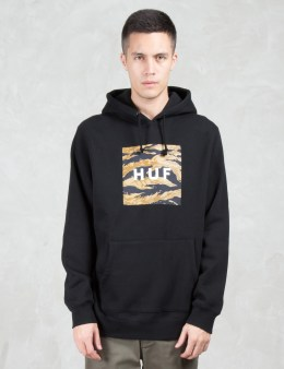 HUF Golden Camo Stripe Box Logo Pullover Hoodie Picture