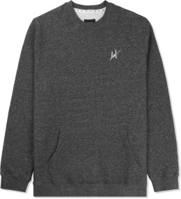 HUF Charcoal Heather HUF Cadet 2.0 Crewneck Sweater Picture