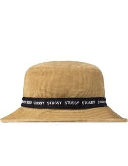 Stussy Khaki Band Cord Bucket Hat Picture