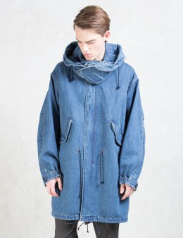 UNUSED Indigo US1067 13.5oz Denim Parka Picture