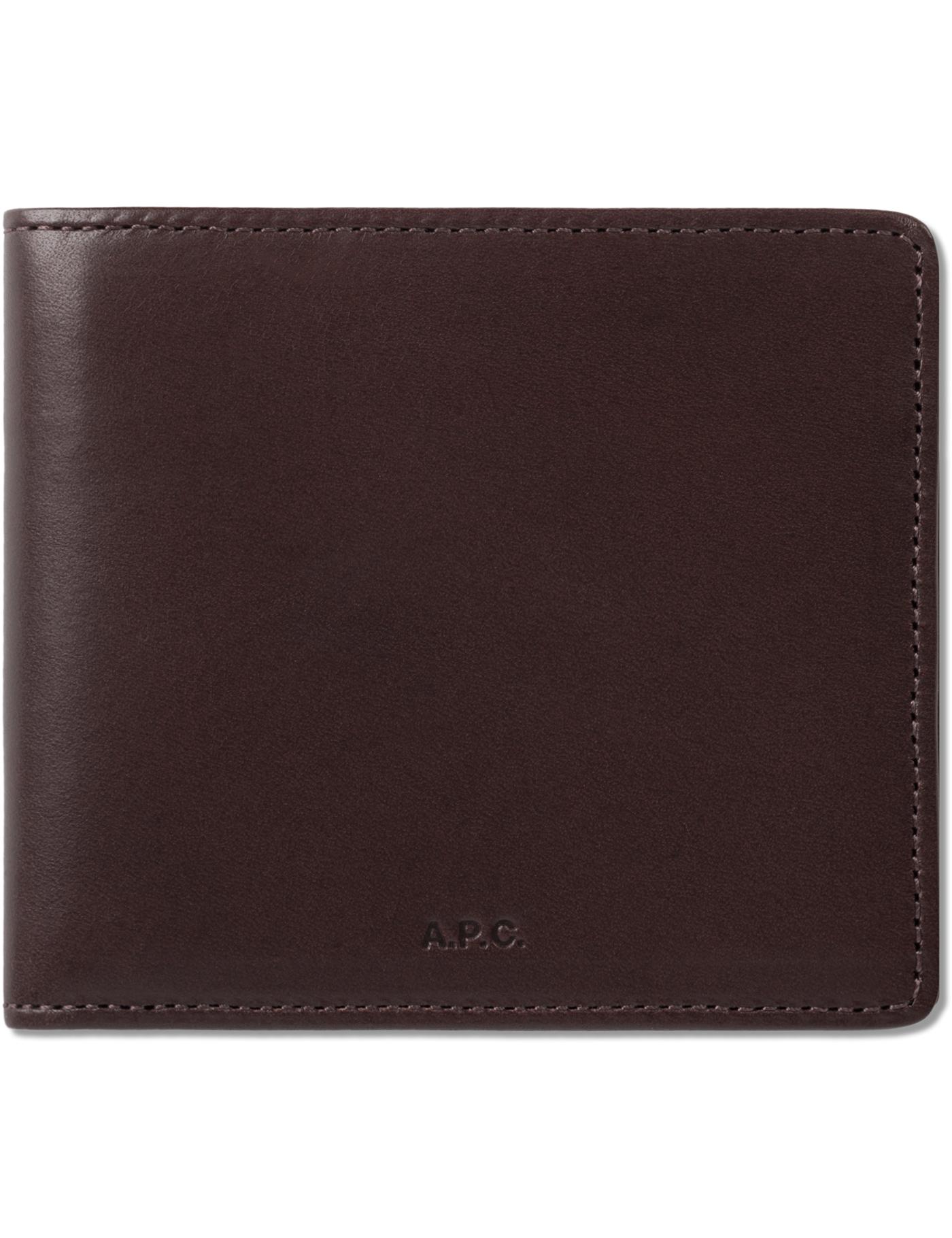 A p c bordeaux porte monnaie london wallet hbx for Porte monnaie wallet