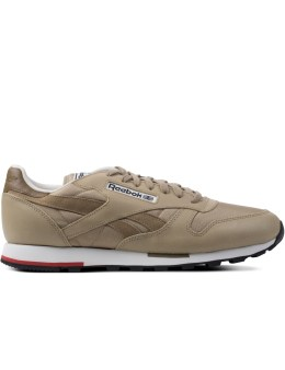 Reebok Khaki/Paper White/Redrush/Black  CL Leather Casual Sneakers Picture