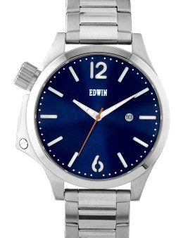 EDWIN Watch Silver With Blue Dial Brook Picture