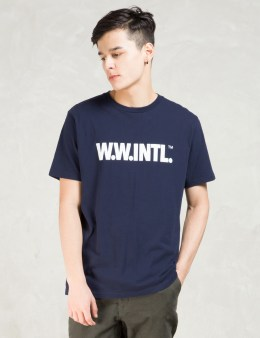 Wood Wood Navy W.W.Intl T-shirt Picture