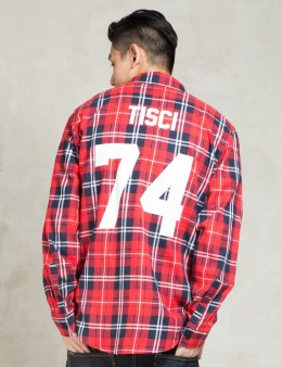 LES (ART)ISTS Red TISCI74 Football Flannel Shirt Picture