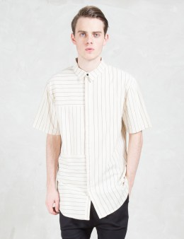 i love ugly. Panel Stripe S/S Shirt Picture