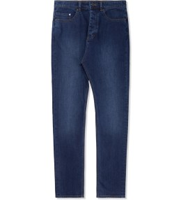 ZANEROBE Worn Dark Blue/Black Low Blow Jeans Picture