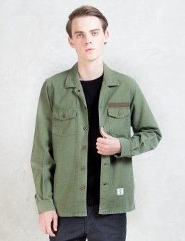 """BEDWIN & THE HEARTBREAKERS """"Cliff"""" L/S Military Shirt Picture"""